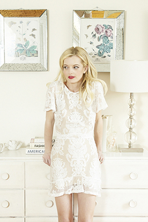Elle wears Love & Lemons dress