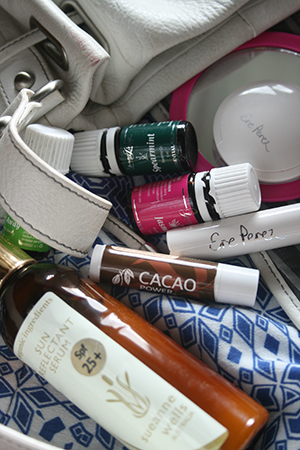 Beauty products found in Abigail's handbag