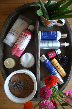Natural beauty products take up the most room in Abigail's makeup stash
