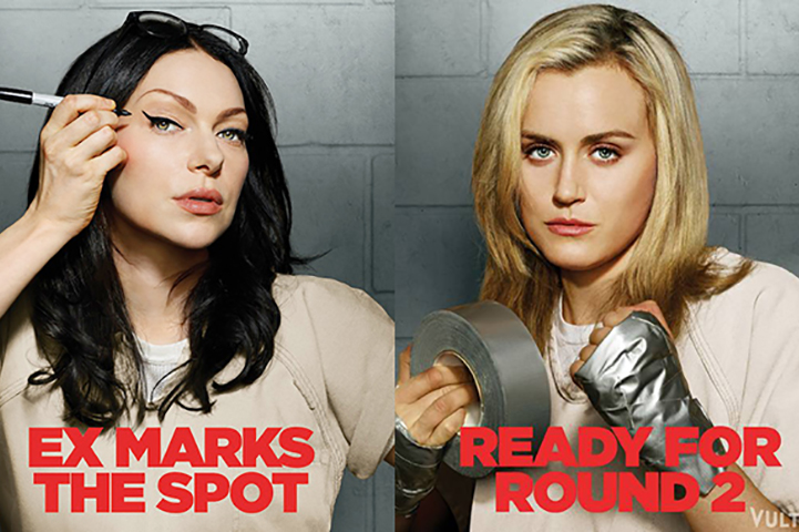Laura Prepon plays Alex Vause and Taylor Schilling plays Piper Chapman