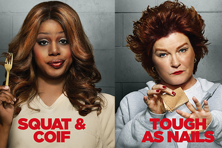 Laverne Cox plays Sophia Burset and Kate Mulgrew plays Red Reznikov