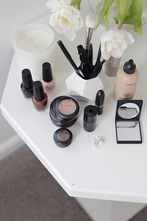 Bridget's love of MAC make up is obvious, as she shows off her daily staples
