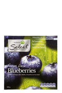 Woolworths Frozen Fresh Blueberries