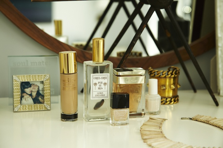 Cartier and Coqui Coqui Fragrances adorn her dresser