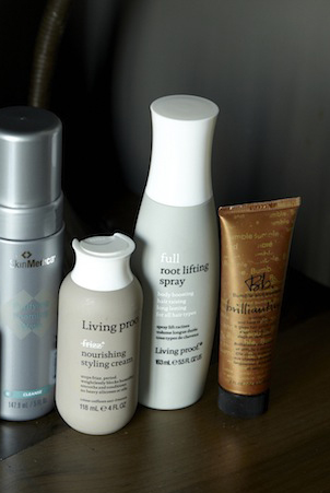 Athena uses Living Proof Nourishing Styling Cream and Full Root Lifting Spray, as well as Bumble and Bumble Brilliantine.