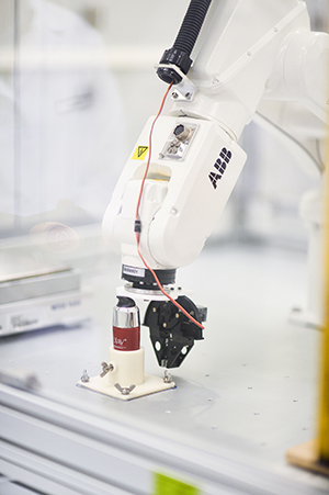 Stress testing robots are just one of the stages prototypes undergo.
