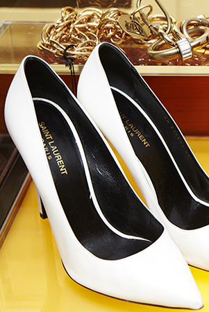 One of Jessica's latest buys: Saint Laurent pumps