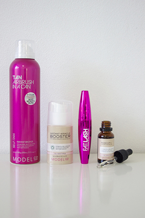 Tan in A Can and Fat Lash Mascara are Rosie's staple products from ModelCo.