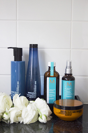 She follows the same approach to hair care as she does with skincare - super simple.