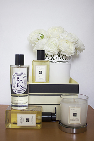 A self-confessed 'smell' person, Rosie loves to have  Jo Malone  and  Diptyque  scents around her.