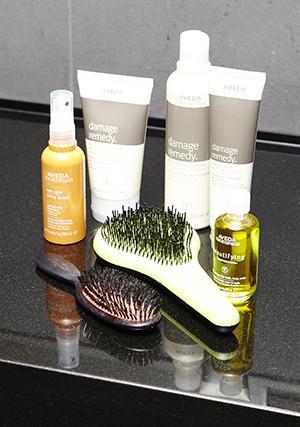 Aveda products nourish Montana's shoot-tortured hair