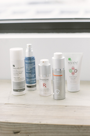 Nadia uses skincare by Paula's Choice, Société, Dr Dennis Gross and Radical.