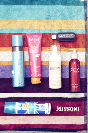 Hair and body essentials from ModelCo, St Tropez, RCK and London