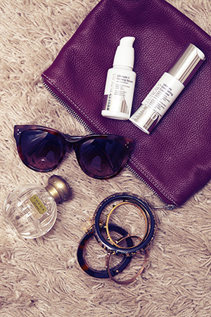 Laura's essentials include Ultraceuticals and Tocca fragrance