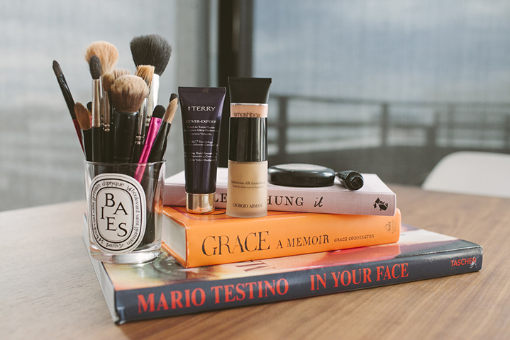 Nadia's makeup favourites range from Smashbox, Giorgio Armani, By Terry and Hourglass.