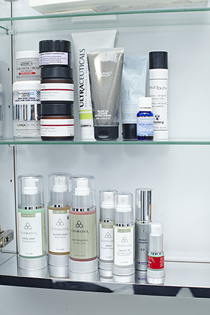 Cosmedix, Results Rx and Skin Medica are some of Melanie's scientifically based skin care products