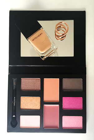 Witchery Gel Nail Polish in Sahara, Witchery Crystal Twist Ring in Rose Gold and Witchery Grand Palette