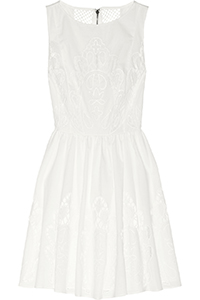 Alice + Olivia Cotton Poplin Mini Dress