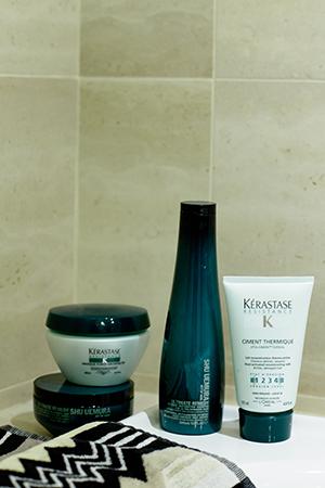 Shu Uemura and Kerastase are among her haircare brands of choice
