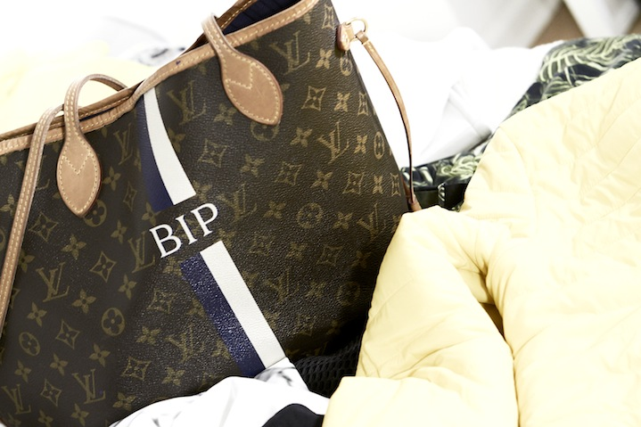 Bips personalised LV tote is stuffed with beauty booty