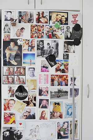 Her fridge is laden with friendly faces and happy memories