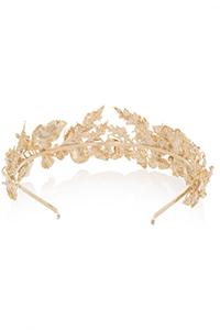 Rosantica Maria Gold-Dipped Pearl Headband