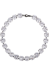 Bottega Veneta Sterling Silver Cubic Zirconia Necklace