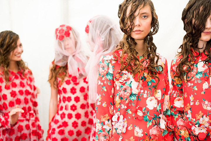 Beauticate loves...Backstage at Simone Rocha Fall/Winter 2015. Photo by Jason Lloyd-Evans