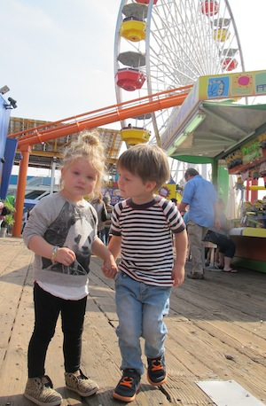 Max and Minicheck out the rides at Santa Monica pier