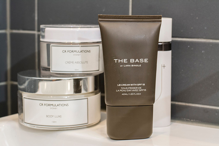 Two brands close to Hermione's heart: The Base by Lara Bingle and CR Formulations
