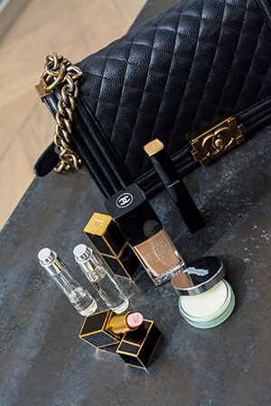 Hermione swears by By Redo travel spray to fit in her Chanel Boy bag