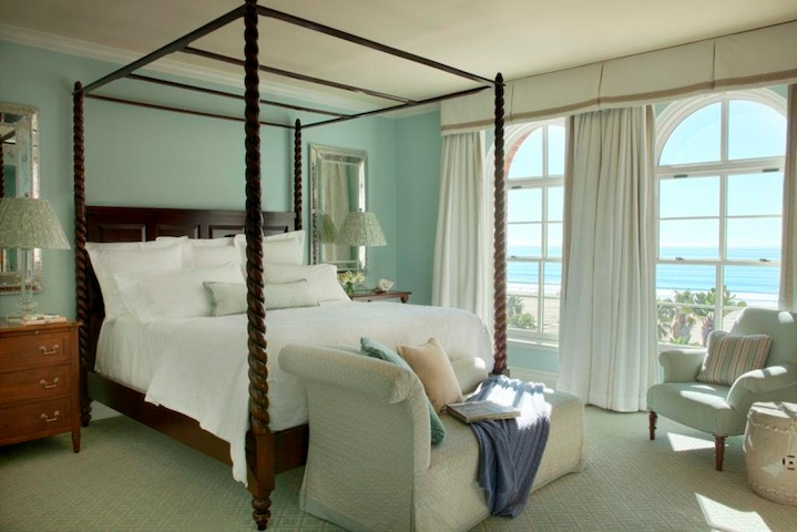 The stunning room decor reflects the hotels coastal position