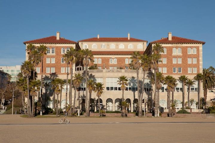 The Hotel Casa Del Mar sprawls impressively along the beachfront