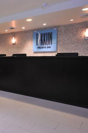 The lobby at Tikkun Holistic Spa.
