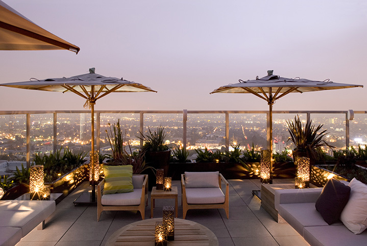 The rooftop at the Andaz hotel