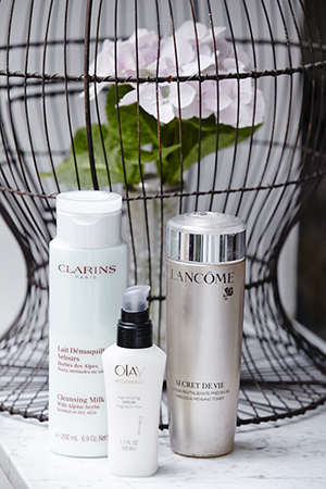Clarins, Lancôme and Olay are among Jan's essentials