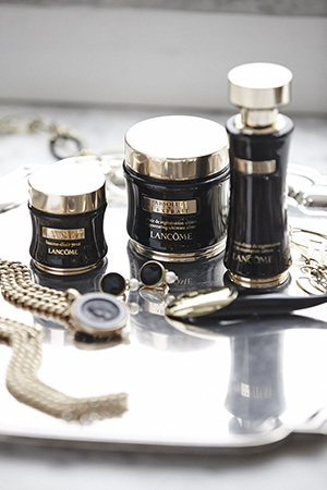 Lancôme Absolue skincare and Jan Logan jewellery.