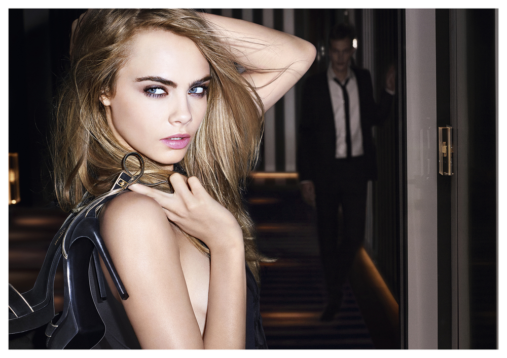 Beauticate loves Cara for the YSL Fusion Ink Foundation Campaign.
