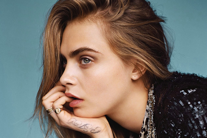 Beauticate loves Cara by Alasdair McLellan for British Vogue January 2014