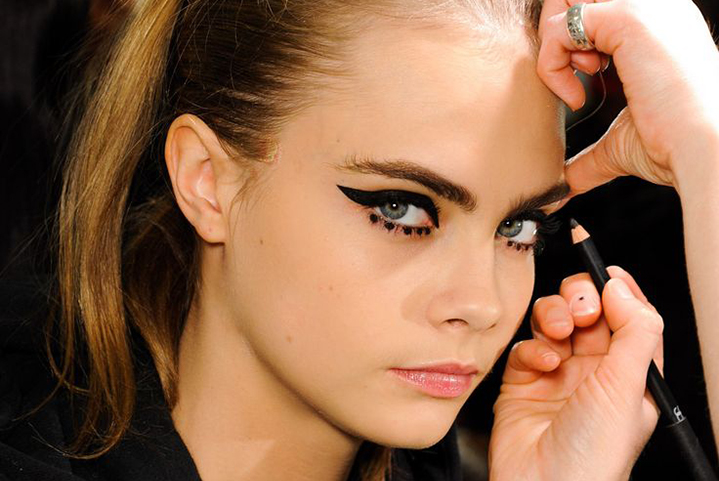 Beauticate loves Cara backstage at Anna Sui Fall/Winter 2013