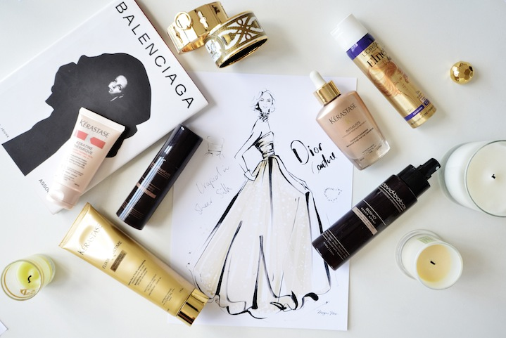 A Dior Couture sketch and Megan's hair helper's