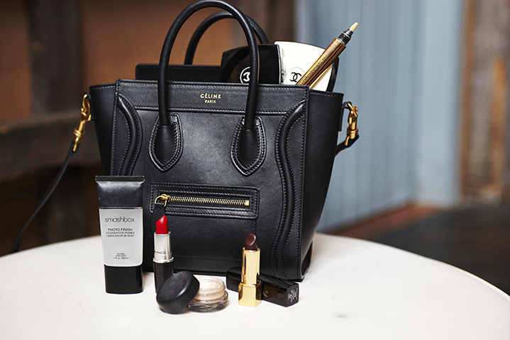 Amalie keeps her Céline bag filled with her beauty essentials