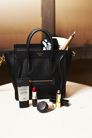 Amalie's Celine Luggage tote bursting with her favourite beauty discoveries.