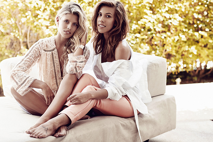 The gorgeous girls go from beach chic to natural glam in head to toe Zimmermann