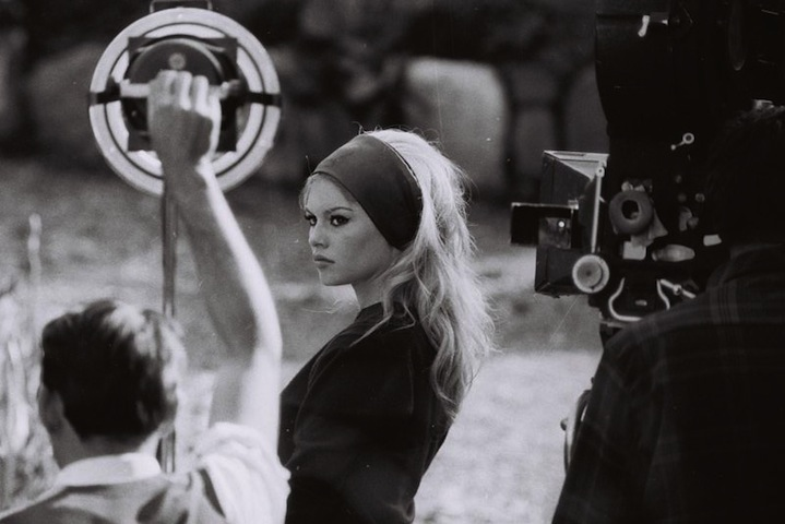 We love Brigitte Bardot photographed behind the scenes of her film 'Il Disprezzo'