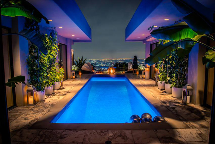 Poolside looking over Hollywood