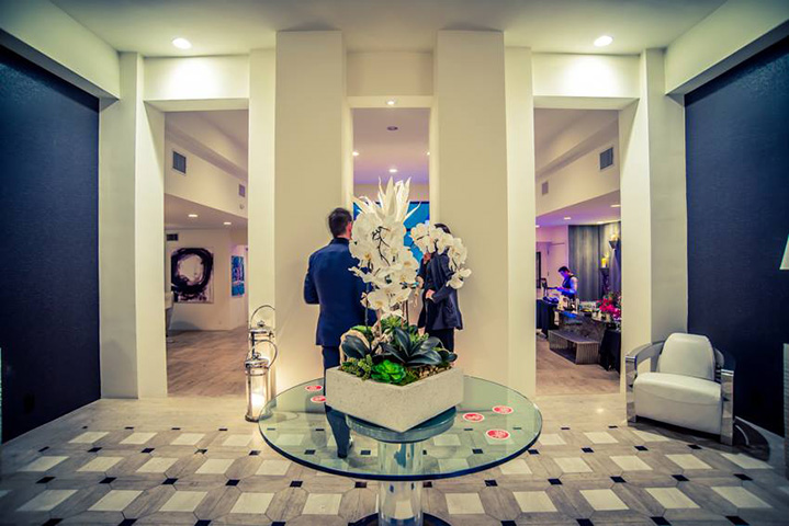 The entry way of the party