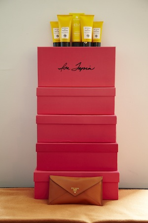 the iconic pink isa tapia shoe box