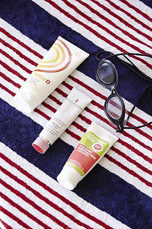 essentials: solar d sunscreen & Elizabeth arden 8 hour cream