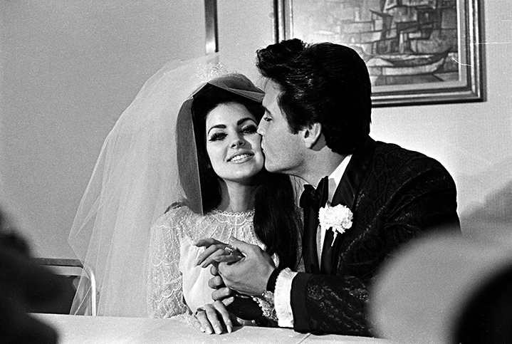 BEAUTICATE LOVES...Priscilla and elvis presley at their wedding